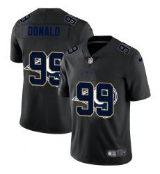 Men's Los Angeles Rams #99 Aaron Donald Black Nike Black Shadow Edition Limited Jersey