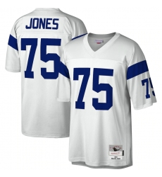 Men's Los Angeles Rams #75 Deacon Jones Mitchell & Ness White Legacy Replica Jersey