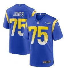 Men's Los Angeles Rams #75 Deacon Jones Nike Royal Game Retired Player Jersey