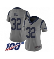Women's Los Angeles Rams #32 Troy Hill Limited Gray Inverted Legend 100th Season Football Jersey