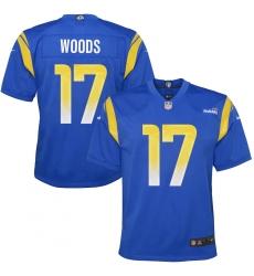 Youth Los Angeles Rams #17 Robert Woods Blue Nike Royal Game Jersey.webp