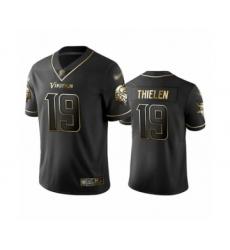 Men's Minnesota Vikings #19 Adam Thielen Limited Black Golden Edition Football Jersey