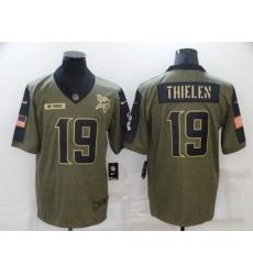 Men's Minnesota Vikings #19 Adam Thielen Nike Olive 2021 Salute To Service Limited Player Jersey