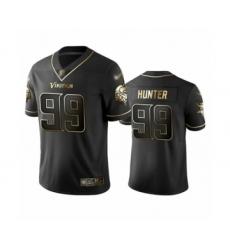 Men's Minnesota Vikings #99 Danielle Hunter Limited Black Golden Edition Football Jersey