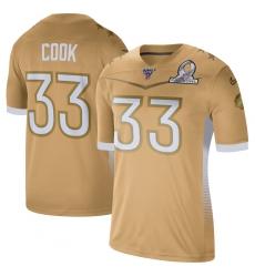 Men's Nike Minnesota Vikings #33 Dalvin Cook 2020 NFC Pro Bowl Game Jersey Gold