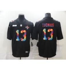Men's New Orleans Saints #13 Michael Thomas Rainbow Version Nike Limited Jersey