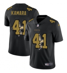 Men's New Orleans Saints #41 Alvin Kamara Black Nike Black Shadow Edition Limited Jersey