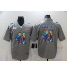 Men's New Orleans Saints #41 Alvin Kamara Gray Rainbow Version Nike Limited Jersey