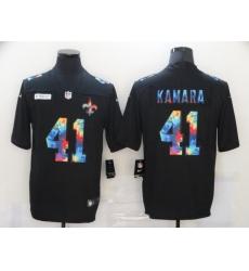 Men's New Orleans Saints #41 Alvin Kamara Rainbow Version Nike Limited Jersey
