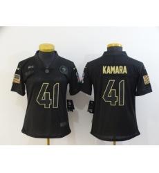Women's New Orleans Saints #41 Alvin Kamara Black Nike 2020 Salute To Service Limited Jersey