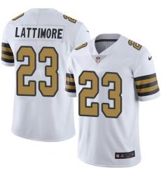 7ce35d2120f Men's Nike New Orleans Saints #23 Marshon Lattimore Limited White Rush  Vapor Untouchable NFL Jersey