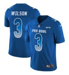 Men's Nike Seattle Seahawks #3 Russell Wilson Limited Royal Blue 2018 Pro Bowl NFL Jersey