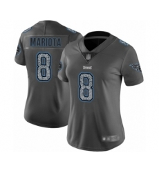 Women's Tennessee Titans #8 Marcus Mariota Limited Gray Static Fashion Football Jersey
