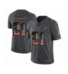 Men's Washington Redskins #21 Sean Taylor Carbon Black Retro Flag Limited Player Football Jersey