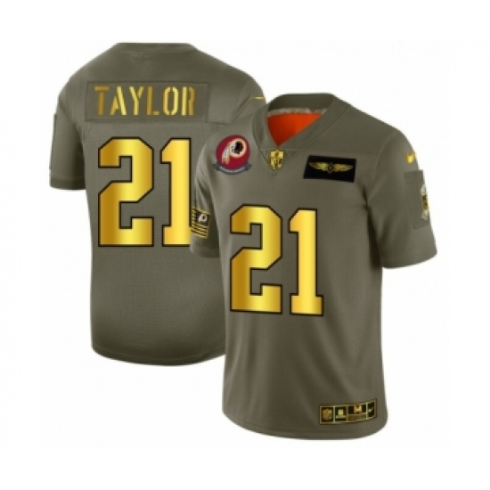 Men's Washington Redskins #21 Sean Taylor Limited Olive Gold 2019 Salute to Service Football Jersey