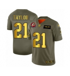 Men's Washington Redskins #21 Sean Taylor Olive Gold 2019 Salute to Service Limited Player Football Jersey