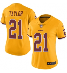Women's Nike Washington Redskins #21 Sean Taylor Limited Gold Rush Vapor Untouchable NFL Jersey