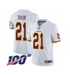 Youth Washington Redskins #21 Sean Taylor White Vapor Untouchable Limited Player 100th Season Football Jersey