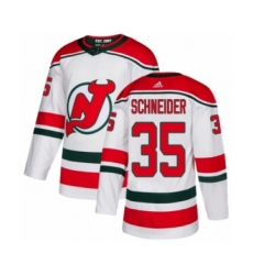 Youth Adidas New Jersey Devils #35 Cory Schneider Authentic White Alternate NHL Jersey