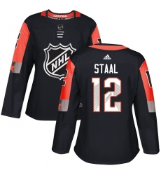Women's Adidas Minnesota Wild #12 Eric Staal Authentic Black 2018 All-Star Central Division NHL Jersey