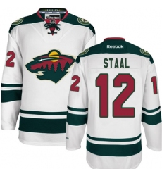 Youth Reebok Minnesota Wild #12 Eric Staal Authentic White Away NHL Jersey