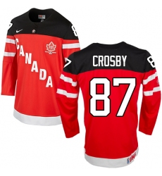 Men's Nike Team Canada #87 Sidney Crosby Authentic Red 100th Anniversary Olympic Hockey Jersey
