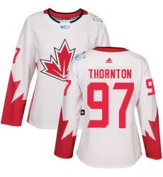 Women's Adidas Team Canada #97 Joe Thornton Premier White Home 2016 World Cup Hockey Jersey