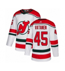 Men's Adidas New Jersey Devils #45 Sami Vatanen Authentic White Alternate NHL Jersey