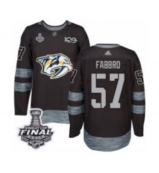 Men's Nashville Predators #57 Dante Fabbro Authentic Black 1917-2017 100th Anniversary 2017 Stanley Cup Final Hockey Jersey
