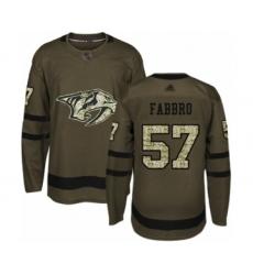 Men's Nashville Predators #57 Dante Fabbro Authentic Green Salute to Service Hockey Jersey
