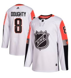 Youth Adidas Los Angeles Kings #8 Drew Doughty Authentic White 2018 All-Star Pacific Division NHL Jersey