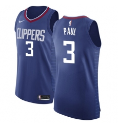 95e87a212 Men s Nike Los Angeles Clippers  3 Chris Paul Authentic Blue Road NBA Jersey  - Icon
