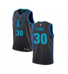 Men's Dallas Mavericks #30 Seth Curry Authentic Charcoal Basketball Jersey - City Edition