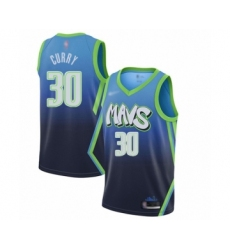 Men's Dallas Mavericks #30 Seth Curry Swingman Blue Basketball Jersey - 2019 20 City Edition
