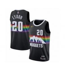 Men's Denver Nuggets #20 Tyler Lydon Swingman Black Basketball Jersey - 2019 20 City Edition