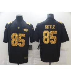 Men's San Francisco 49ers #85 George Kittle Black Nike Leopard Print Limited Jersey