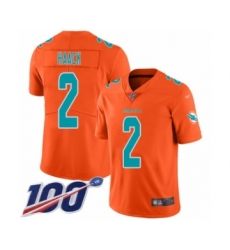 Youth Miami Dolphins #2 Matt Haack Limited Orange Inverted Legend 100th Season Football Jersey