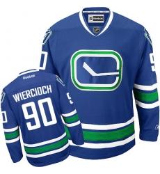 Women's Reebok Vancouver Canucks #90 Patrick Wiercioch Premier Royal Blue Third NHL Jersey