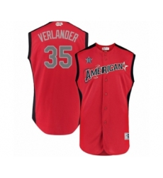 Men's Houston Astros #35 Justin Verlander Authentic Red American League 2019 Baseball All-Star Jersey