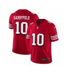 Men's San Francisco 49ers #10 Jimmy Garoppolo Limited Red Rush Vapor Untouchable Football Jerseys