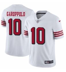 Youth Nike San Francisco 49ers #10 Jimmy Garoppolo Limited White Rush Vapor Untouchable NFL Jersey