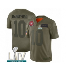 Youth San Francisco 49ers #10 Jimmy Garoppolo Limited Olive 2019 Salute to Service Super Bowl LIV Bound Football Jersey