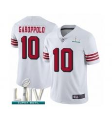 Youth San Francisco 49ers #10 Jimmy Garoppolo Limited White Rush Vapor Untouchable Super Bowl LIV Bound Football Jersey