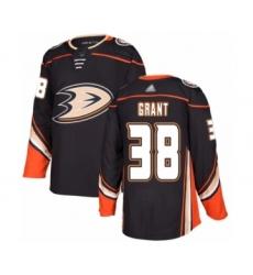 Men's Anaheim Ducks #38 Derek Grant Authentic Black Home Hockey Jersey