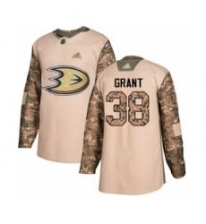 Men's Anaheim Ducks #38 Derek Grant Authentic Camo Veterans Day Practice Hockey Jersey