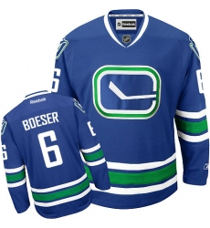 Women's Reebok Vancouver Canucks #6 Brock Boeser Authentic Royal Blue Third NHL Jersey
