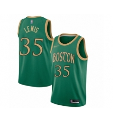 Men's Boston Celtics #35 Reggie Lewis Swingman Green Basketball Jersey - 2019 20 City Edition