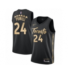 Men's Toronto Raptors #24 Norman Powell Swingman Black Basketball Jersey - 2019 20 City Edition