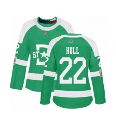 Women's Dallas Stars #22 Brett Hull Authentic Green 2020 Winter Classic Hockey Jersey