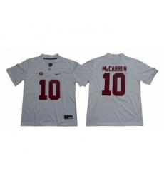 Alabama Crimson Tide 10 A.J. McCarron White Nike College Football Jersey